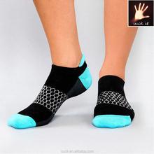 custom 100 cotton sports ankle boot socks for women