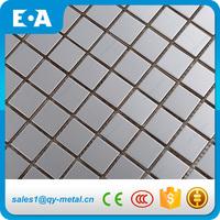 23x23 mm Backsplash Metal Wall Mirror Square Stainless Steel Mosaic Tile