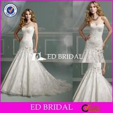 ED-JM25 China Supplier Mermaid Sweetheart Lace Appliqued Wedding Dresses 2015