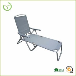 Alum grey texline folding beach sun beds made in China/cheap folding chairs