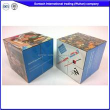 Customized Design Logo Folding Magic Cube Puzzle with size 5cm 6cm 7cm 8cm 10cm
