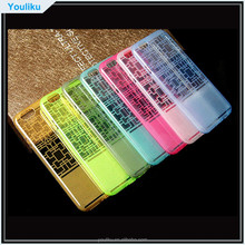2015 new window pattern ultrathin TPU case,cell phone ultrathin tpu cover for iphone 6G