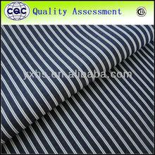100% cotton yarn dyed poplin stripe fabric china textile