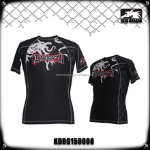 Custom t shirt gym training shirts sublimated lycra rush guards