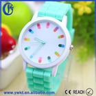 2015 Popular promocional itens todas as cores bonito Silicon assista mulheres relógio charme