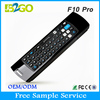 Wholesale 2.4g wireless Mele f10 pro chargeable mini wireless keyboard air mouse for android tv box