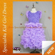 SPF-011 2016 new beauty kids wear for wedding girl flower fancy dress competition