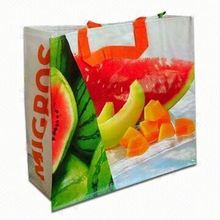 Newly top quality trendy reusable shopping laminated bags