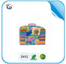 Hot mini cardboard suitcases for children kids girls boys EB24012