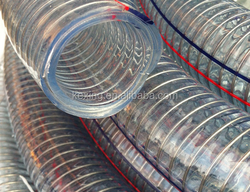 PVC Steel Spring Reinforced Clear Vacuum Hose for Washing machine