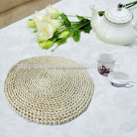 Wholesale woven straw rattan round dining mat custom table placemats