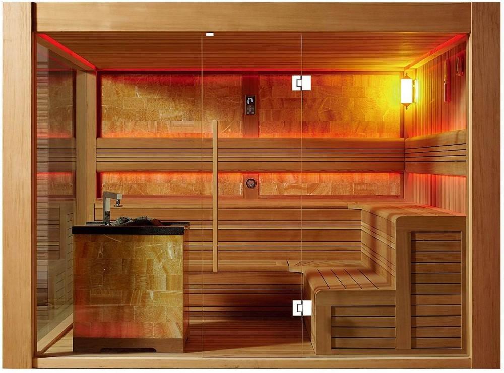 Tradicional sala de sauna de cedro rojo saunas con harvia - Calentador para sauna ...