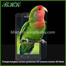 Mobile phone use transparent tempered glass screen protector for Lenovo Lemon K3 note , waterproof screen protector