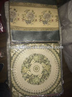 embroider flower chenille cushion