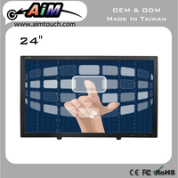 24 inch Resisitive Desktop Displays 1920x1080 Touch Screen LCD Monitor