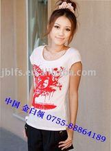 Factory Direct red devil women's short sleeve T-shirt
