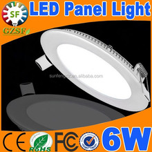 High lumen 3.5'' round led recessed light 6W, panel lights with 2 years warranty