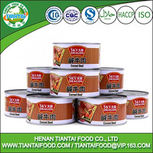 halal roast beef sausage, corn beef can food
