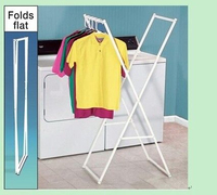 Stainless steel X ground folding drying rack The ground double pole clotheshorse Scalable -installation drying rack