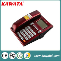 small corded analog phone set with redial function