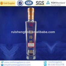 500ml vino de la botella de vidrio de botella de vidrio fabricante