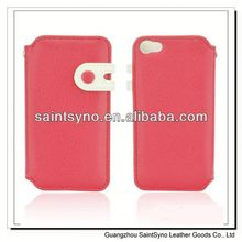 13031A Leather mobile phone cover case for iphone