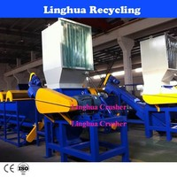 Plastic recycling factory /waste plastic crushing equipment