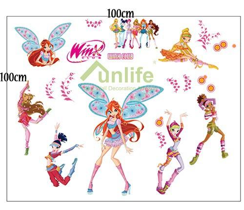 funlife winx club wall sticker winxclub wall sticker popular funlife wall stickers buy cheap funlife wall