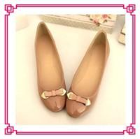 Patent PU girls flat shoes ballet flat women pump shoes