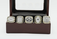SJCR016 NFL San Francisco 49ers 1981&1984&1988&1989&1994 Super Bowl Championship Replica Ring Collection With Wooden Box