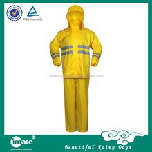 high visibility fluorescent raincoat