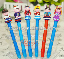 china minority character polymer clay craft pen Chinese style handmade pens