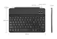 For Ipad Air Ultra-thin Aluminium Bluetooth Multi Language Keyboard Case With Build-In Slot