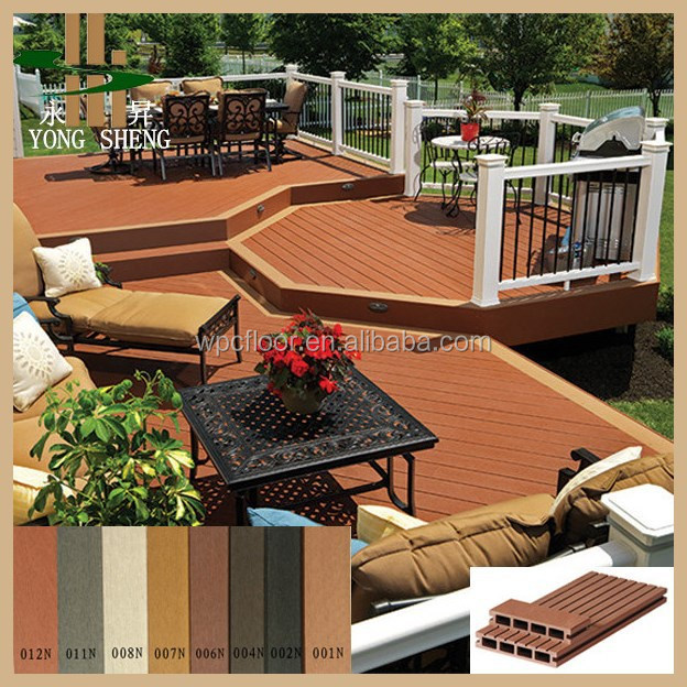 Balcony flooring wood plastic wpc cheap decking board for Cheapest place for decking boards