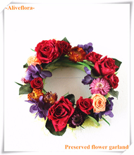 Flor preservada <span class=keywords><strong>guirnalda</strong></span> para la navidad adornos
