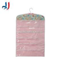 Pvc Jewelry Organizer Bag Custom Decorative Wall Hanging Portable Folding Storage bag in Display