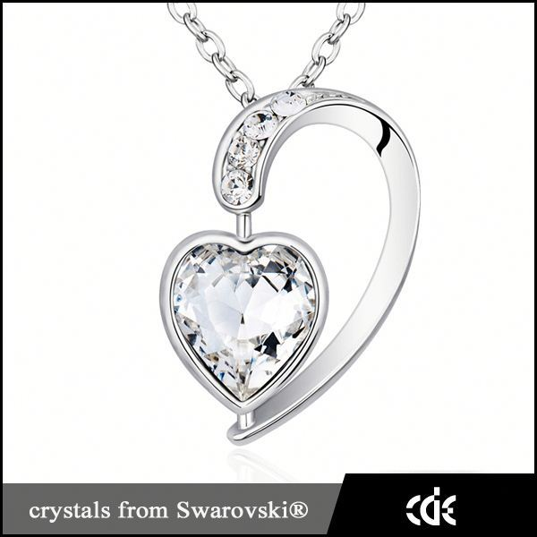 Cristal <span class=keywords><strong>coeur</strong></span> collier, Neckless bijoux colliers mode 2015 fait avec <span class=keywords><strong>Swarovski</strong></span> Elements