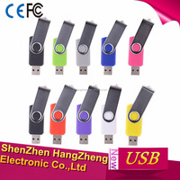 1GB/2GB/4GB/8GB/16GB/32GB Swivel USB Flash Drive USB 2.0 Memory Stick (9 Colors)