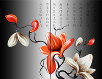 3D printing Wall Painting Decor canvas Beautiful flower Home Wall Art Pictures 2 pcs for bedroom living room HH1002