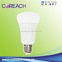 LED lighting 2015 10W LED bulb with plastic body and E27 bulb lamp holder PC coreach