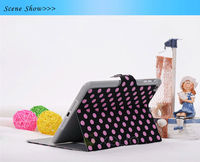book style folio stand leather case cover for mini ipad wholsale price