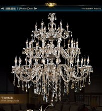 32 Arm Empire Turkish Chandelier Crystal Light Decor with Top K9 Crystal and Lampshades (CCVN8056-L32)