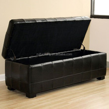 New design button crystal storage ottoman , Lazy boy bedroom furniture bench storage stool