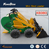 Mini skid steer loader with four in one bucket attachment, 4in1 bucket loader attachment