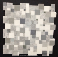 square shape stone mosaic marble arabic mosaic for room decor