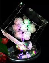inner carved crystal for romantic wedding MH-X007