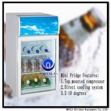 LED 55L table top fridge desktop freezer bar use counter top freezer supplier