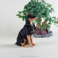 artificial fake decorative plush german shepherd