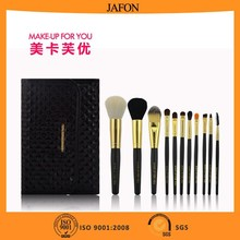 Newest product black 12pcs personalized makeup brush set