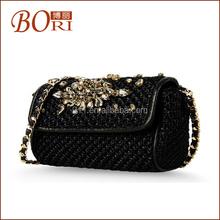 Bori Fashion women funky ostrich leather bags handbag fashion ladies